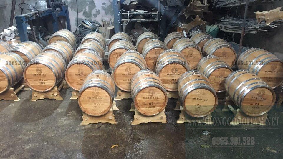 địa chỉ mua thùng gỗ sồi ủ rượu