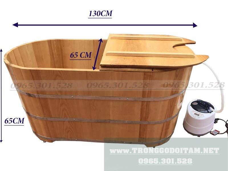 Kích thước bồn tắm gỗ Xông Hơi