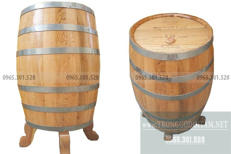 giá thùng gỗ sồi 200l dáng đứng