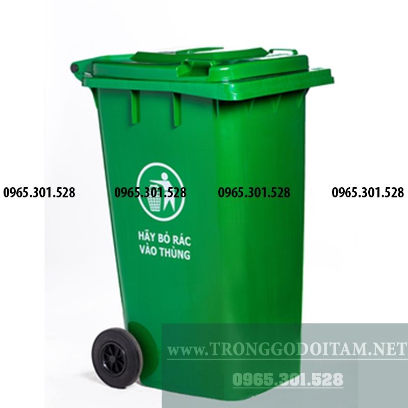 giá thùng rác nhựa 120l