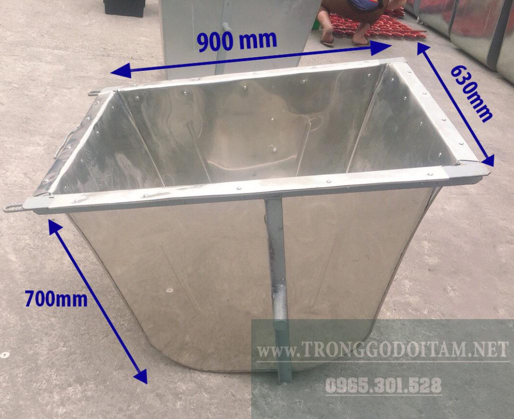kích thước thùng xe gom rác đẩy tay