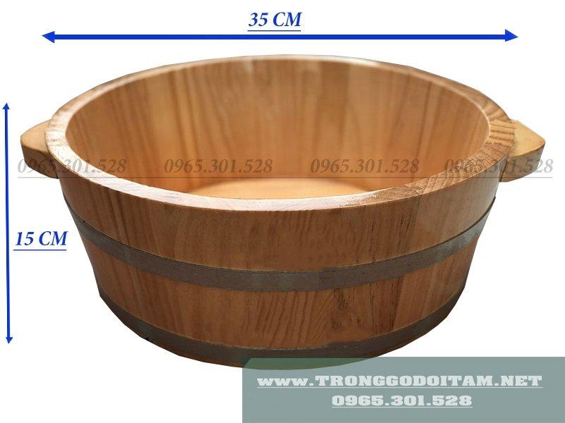 Chậu gỗ rửa mặt độc đáo