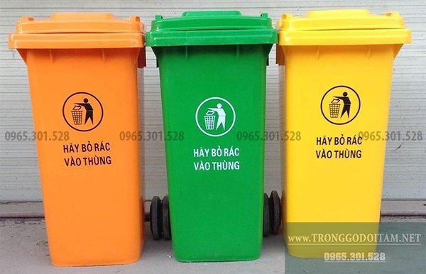 mua thùng rác nhựa, đầy đủ các màu