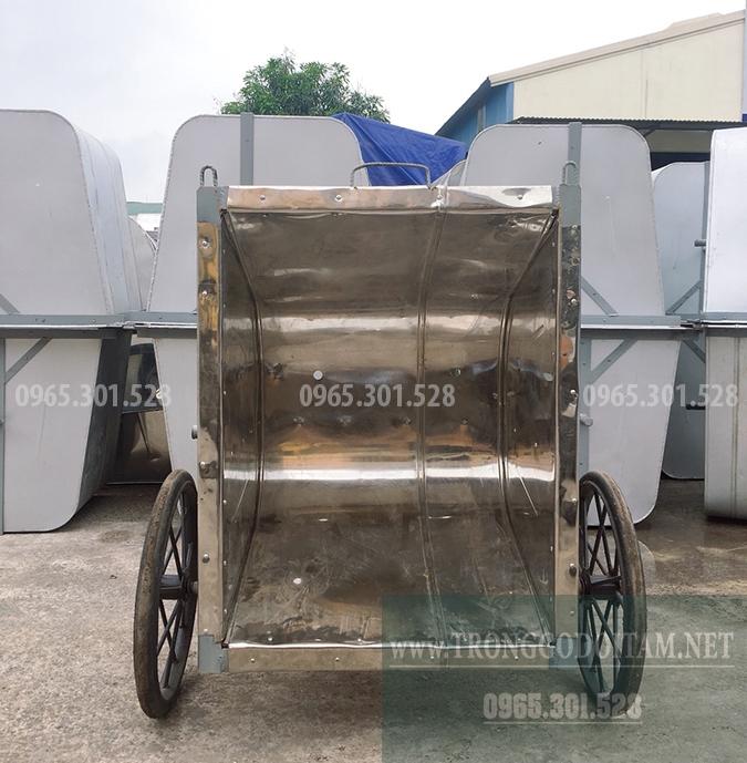 địa chỉ bán xe gom rác inox 400l giá rẻ uy tín chất lượng