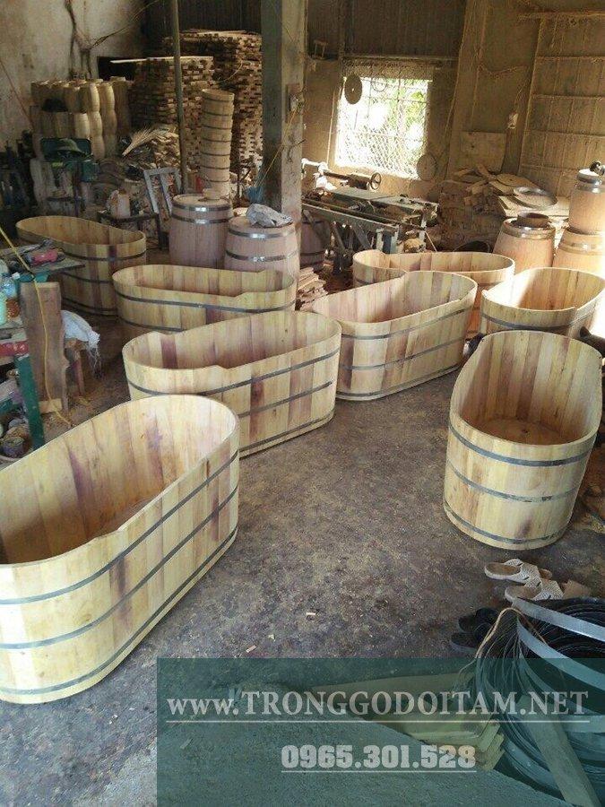 xưởng sản xuất bồn tắm gỗ xông hơi, chuyên cấp cho khách sạn, spa