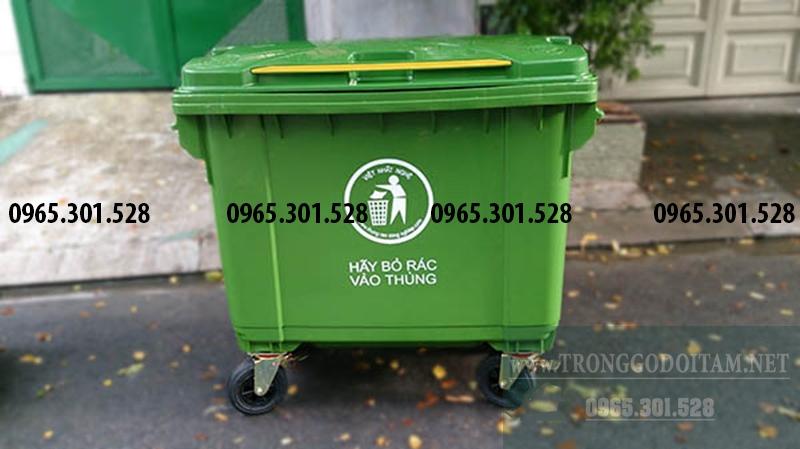 thùng đựng rác bằng nhựa 660 lít giá rẻ