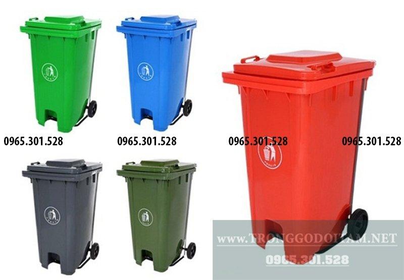 thùng rác nhựa 240l có nhiều màu sắc, tha hồ lựa chọn