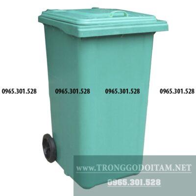 giá thùng đựng rác nhựa 240 lít