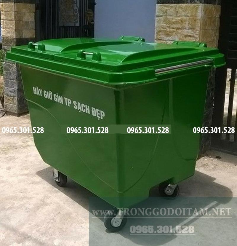 thùng đựng rác bằng nhựa cỡ lớn. 660 lít