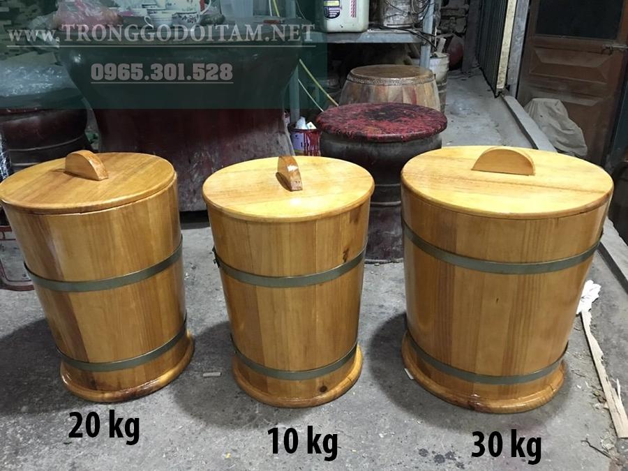 mua thùng gỗ đựng gạo ở đâu?