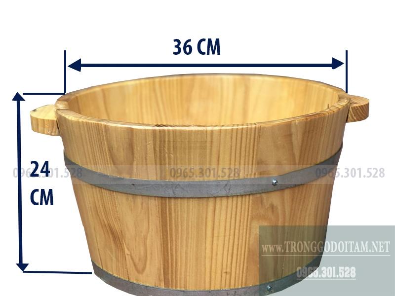 Bán chậu ngâm chân bằng gỗ Thông nhập khẩu