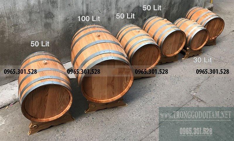 thùng gỗ sồi ngâm rượu nhập khẩu