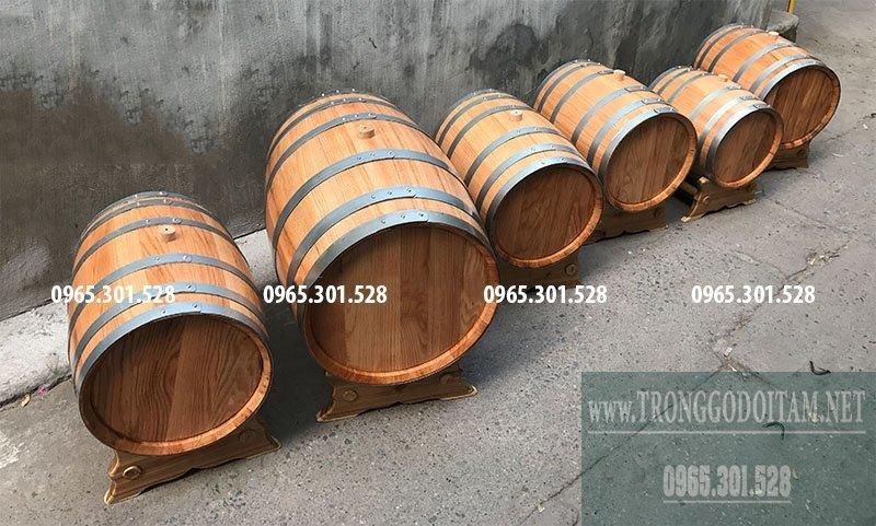 Chuyên sản xuất mua thùng rượu gỗ sồi ngâm ủ rượu Việt Nam, chất lượng như thùng nhập khẩu