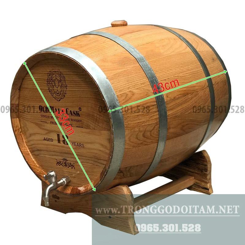 Bán thùng gỗ sồi mỹ ngâm ủ rượu
