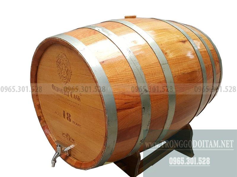 thùng gỗ sồi đỏ loại 200l