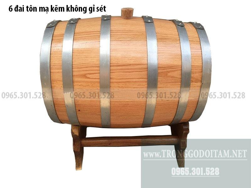 thùng gỗ ngâm rượu bằng gỗ sồi đỏ nhập khẩu