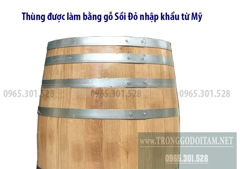 Bán thùng rượu gỗ sồi 200 Lít, 300 Lít chuẩn chất lượng