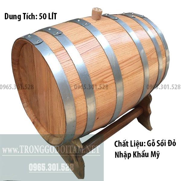 thùng gỗ đựng rượu bằng gỗ sồi