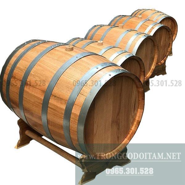 bán thùng gỗ ngâm rượu bằng gỗ sồi xịn