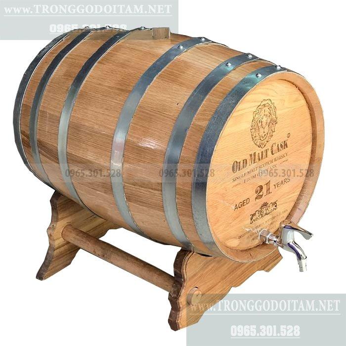 giá bán thùng gỗ sồi ngâm rượu loại 50l
