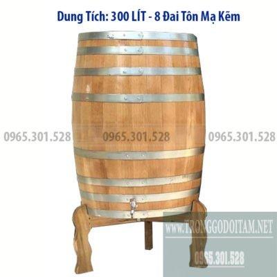 Bán thùng gỗ sồi ngâm rượu 300l