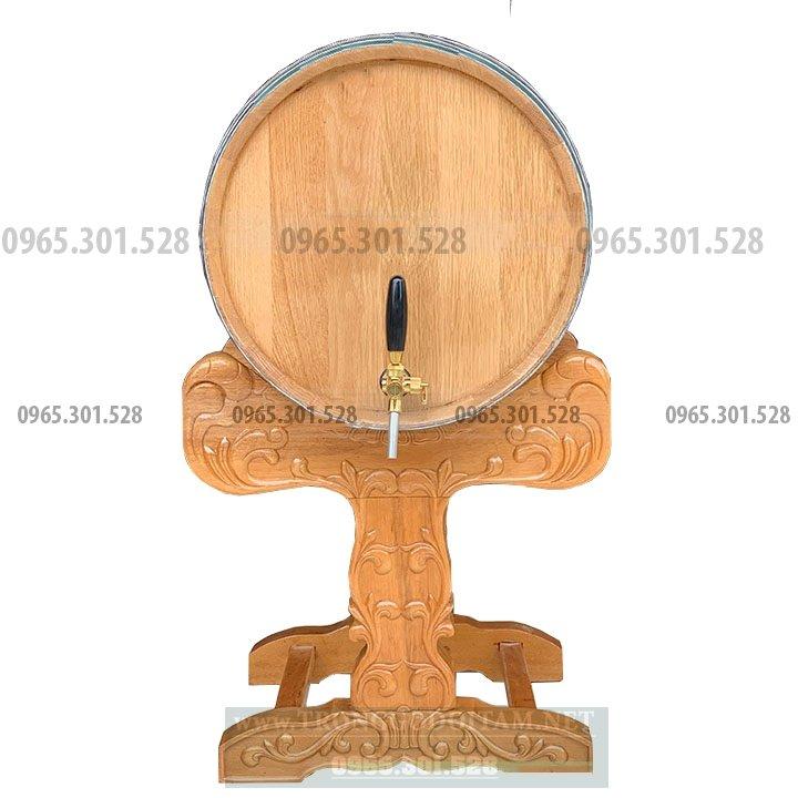 Thùng gỗ sồi đựng rượu vang được làm từ nguyên liệu gỗ Sồi nhập khẩu