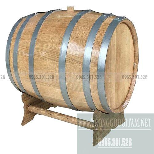 giá thùng gỗ sồi ngâm rượu loại 100l