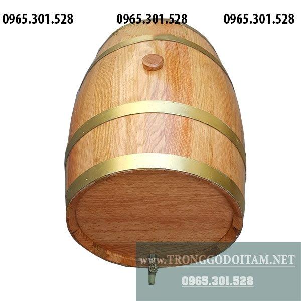Thùng gỗ sồi ngâm rượu mẫu đẹp có thể dùng trưng bày, ngâm rượu tại phòng khách