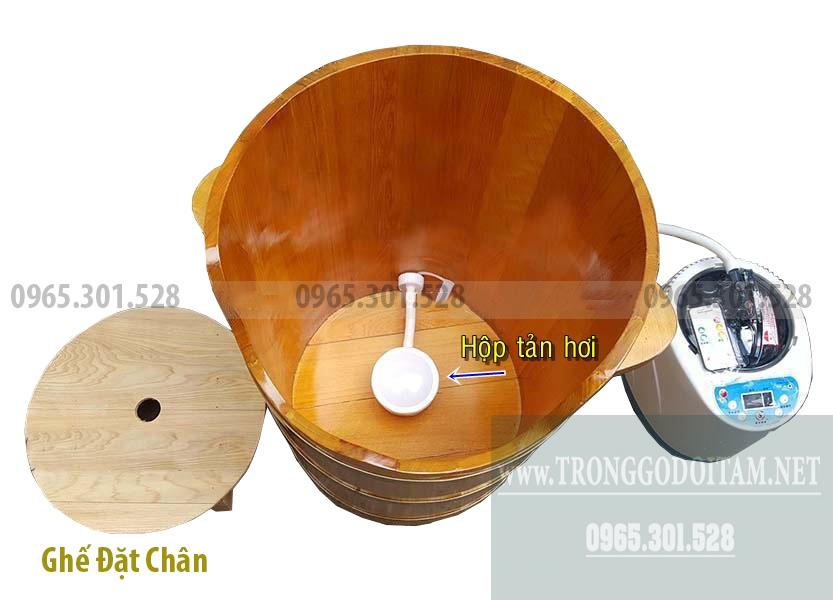 Bán thùng gỗ xông hơi chân giúp đào thải độc tố rất hữu hiệu