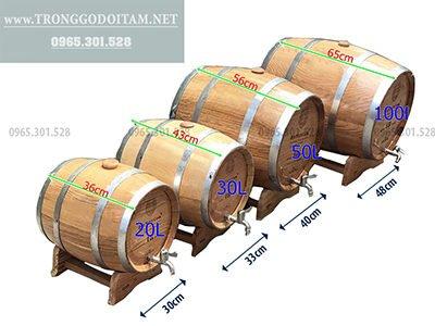 giá thùng ngâm rượu gỗ sồi