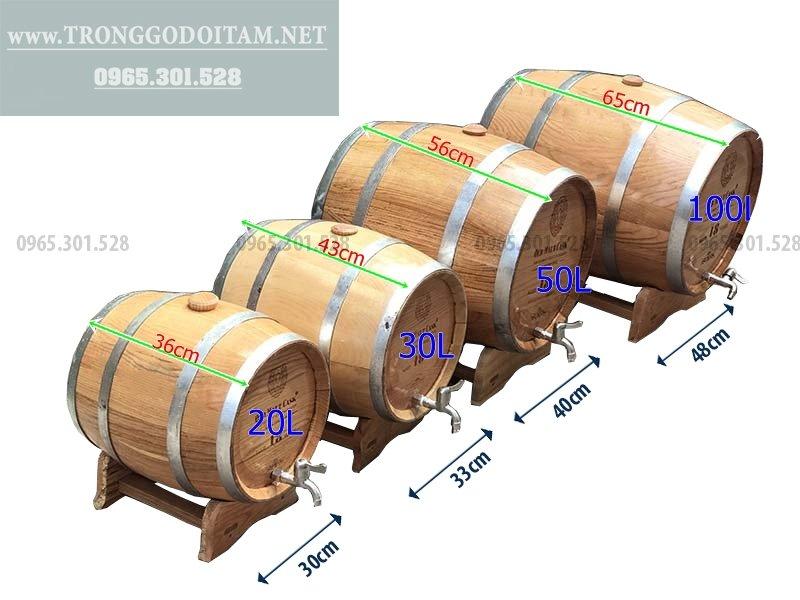 Giá thùng gỗ sồi ngâm rượu
