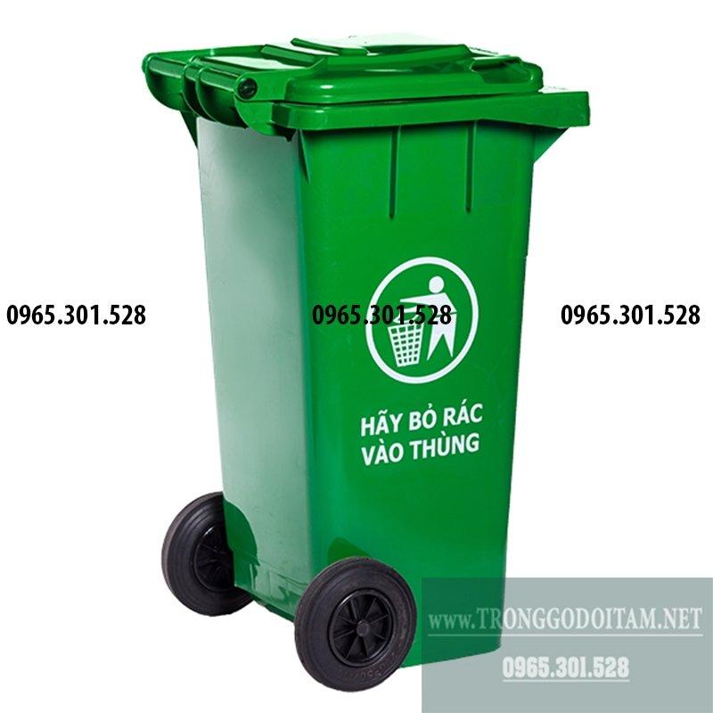thùng nhựa đựng rác 120l có nắp