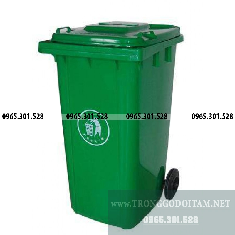 giá thùng rác nhựa có nắp