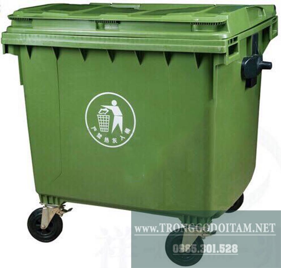 thùng rác nhựa 660l hpde