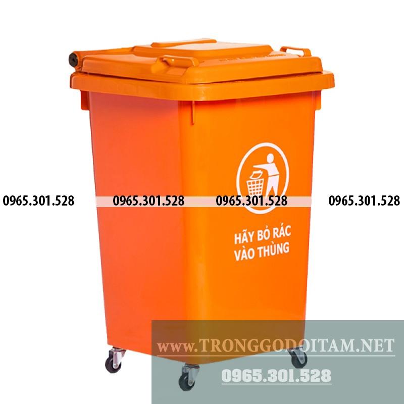 thùng rác nhựa công cộng 60 lít