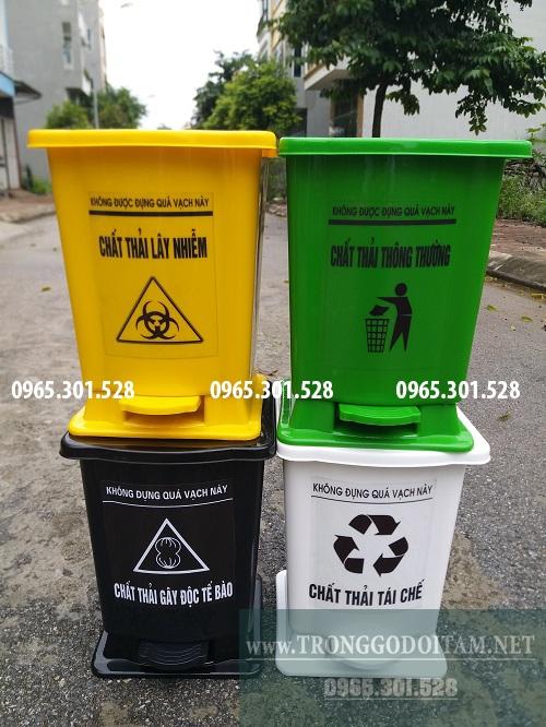 thùng rác nhựa y tế hdpe 15 lít