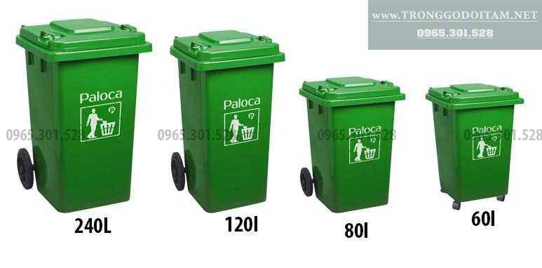 các mẫu thùng rác nhựa hdpe