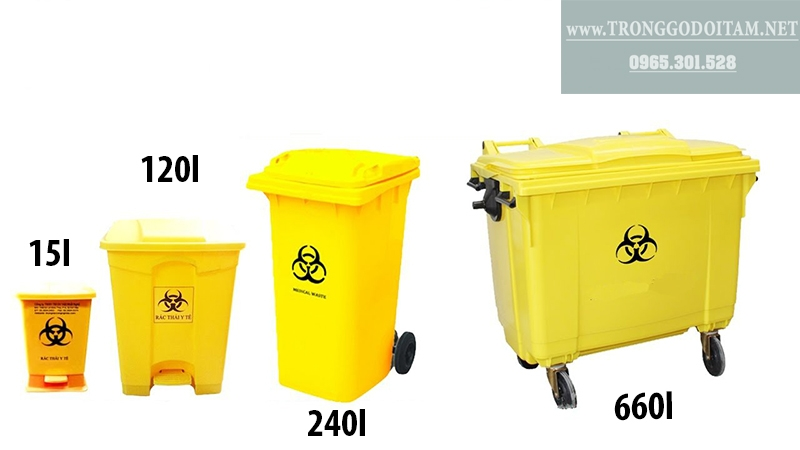 thùng rác nhựa y tế