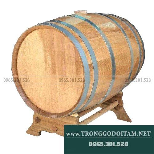 giá thùng gỗ sồi ngâm rượu loại 200l
