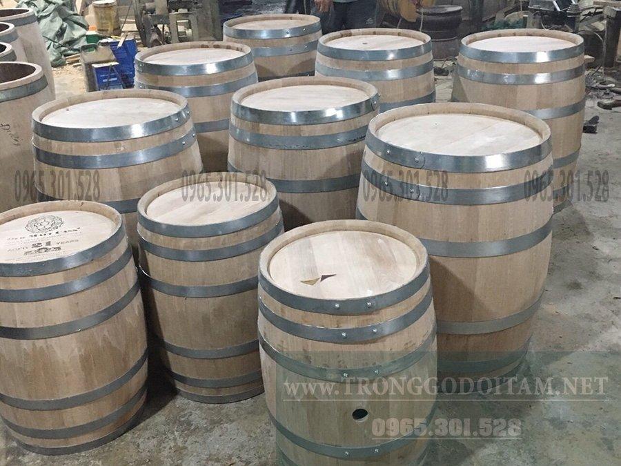 xưởng sản xuất thùng rượu gỗ sồi giá rẻ