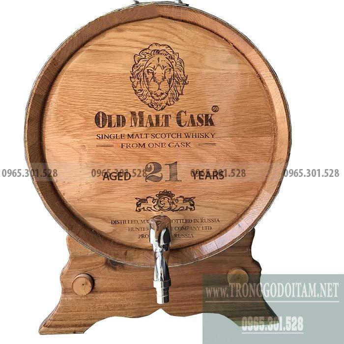 Thùng gỗ sồi ngâm ủ rượu chất lượng