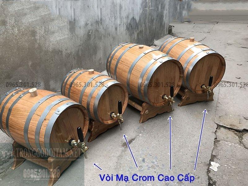 lắpvòi mạ Crom vào thùng gỗ sồi nhập khẩu(tăng 800.000 tiền vòi cao cấp)