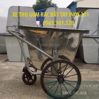 xe thu gom rác 400l inox