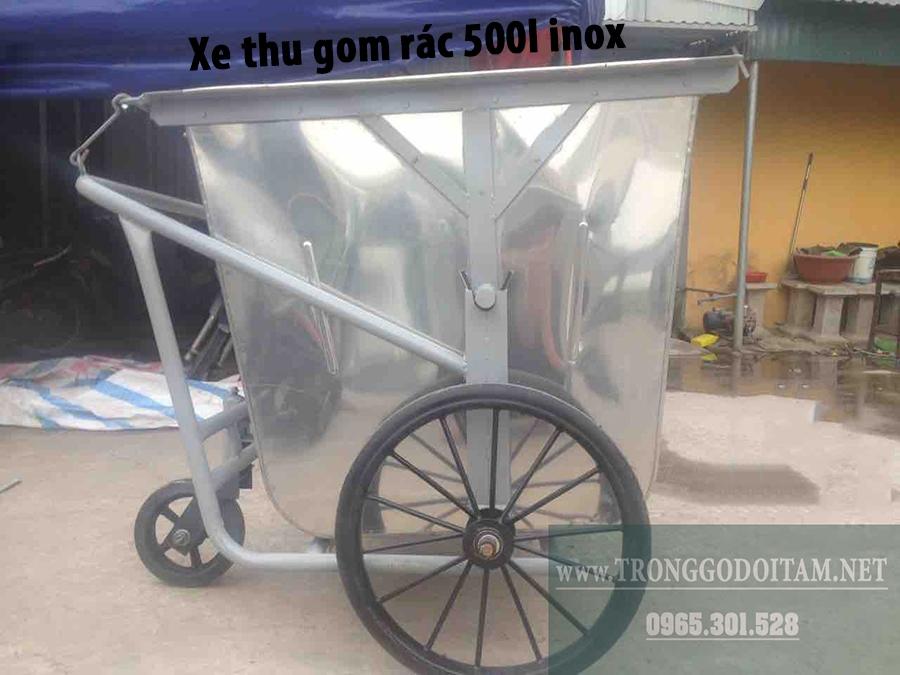 xe thu gom rác 500l inox