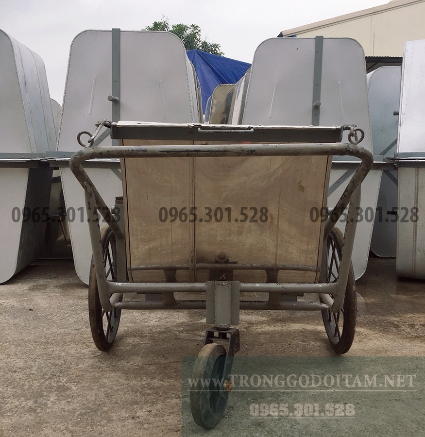 bán xe gom rác đẩy tay inox 400l, giao hàng toàn quốc