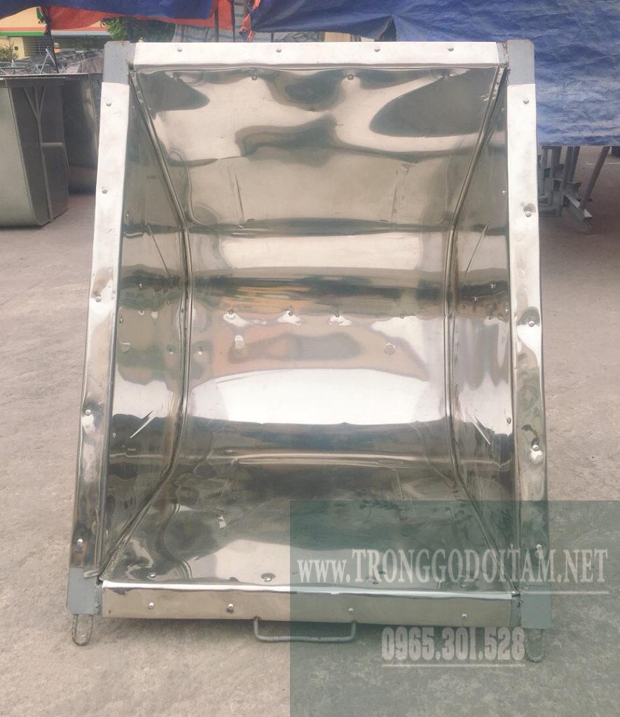 xe gom rác thùng inox chất lượng giá rẻ