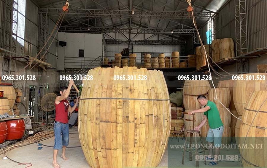 cách làm trống gỗ đọi tam