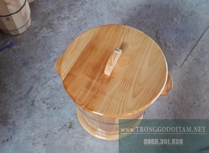 hũ đựng gạo bằng gỗ