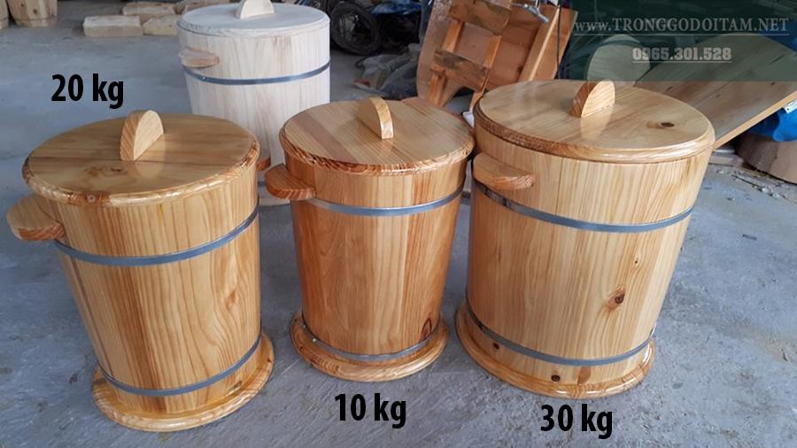 mua thùng đựng gạo bằng gỗ ở đâu