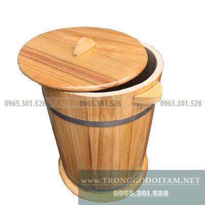 mua thùng gỗ đựng gạo loại 5 kg